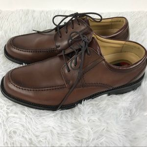 Chaps Brown Leather Dress Shoes NWOB Sz 8.5